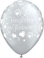 """Bildbeschreibung von """"Glückwunsch Hearts""""."""